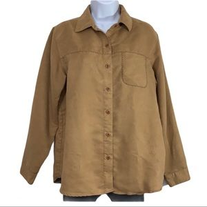 Cherokee suede button down country western top